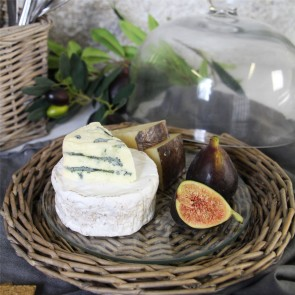 Willow Cheese Board With Glass Dome