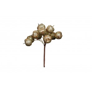 Pick 12cm - Gold Berry Bunch