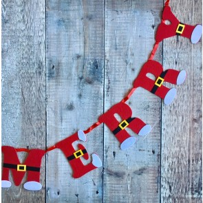 Santa Boots Merry Christmas Garland