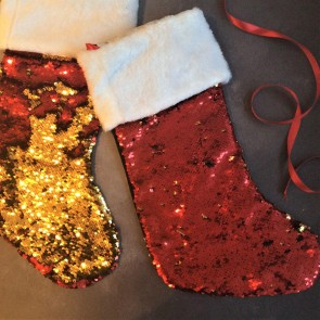 Red/Gold Sequin Stocking