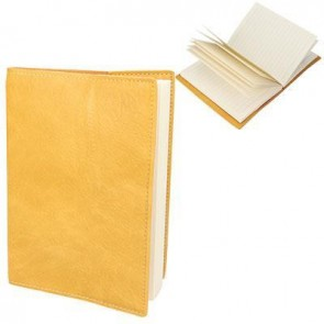 Mustard Leather Effect A6 Notebook