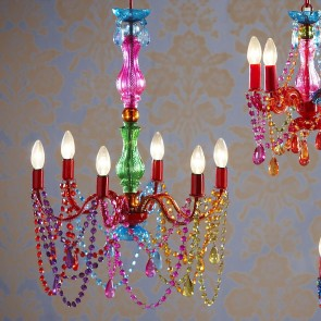 Large Ornate Multi Coloured Chandelier