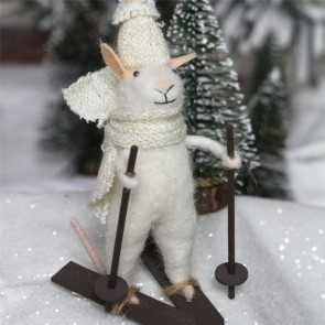 Eric The Mouse On Skis Christmas Decoration
