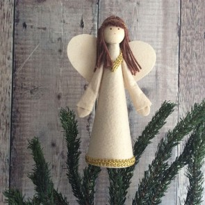 Gold Felt Fairy Tree Topper