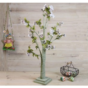 White and Pink Blossom Easter Tree - Small