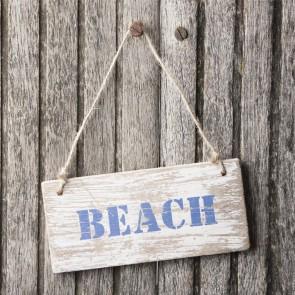 Distressed Beach Sign
