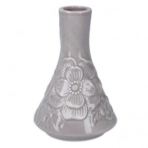Grey Ceramic Mini Floral Vase