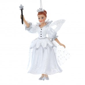 Resin Decoration 12cm - White Fairy Godmother