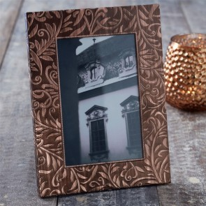 Copper Embossed Picture Frame