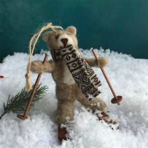 Woolen Skiing Teddy Decoration