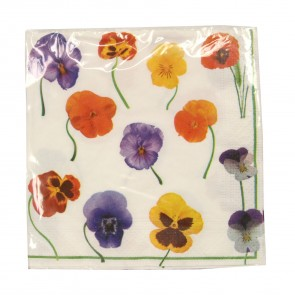 Pansy Paper Napkins