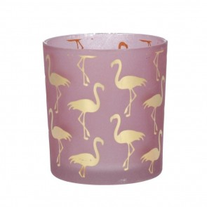 Pink & Gold Flamingo Tea Light Holder