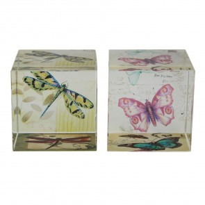 Botanic Glass Decorative Cubes