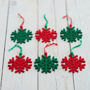 Set of 18 Felt Snowflakes