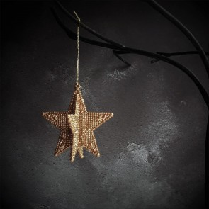 Copper 3D Star Decoration