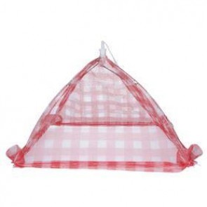 Gingham Mesh Food Cover