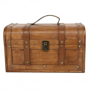 Vintage Style Wooden Chest - Large