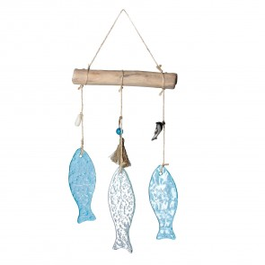 Glass Fish Hanging Mobile Decoration