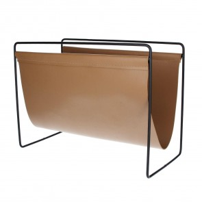 Faux Leather Magazine Rack