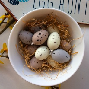 Set of Twelve Speckled Egg Decorations