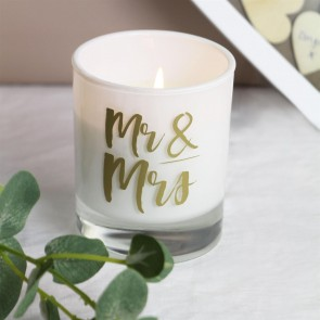 Mr & Mrs Prosecco Scented Boxed Candle