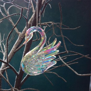 Iridescent Swan Decoration