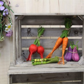 Vegetable Decorations - Set of Four