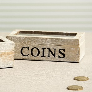 Wooden Coins Box
