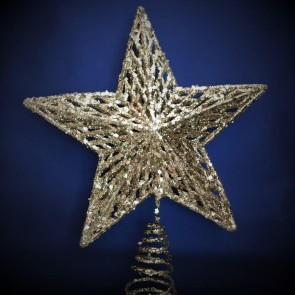 Pale Gold Star Tree Topper