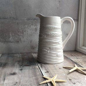 White Fish Jug