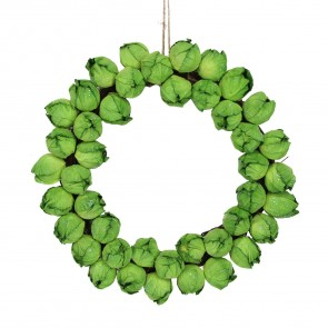 Brussel Sprout Christmas Wreath
