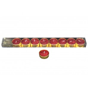 Pack/9 Tealights - Red
