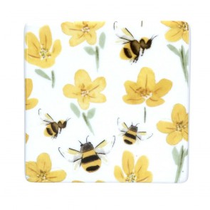 Buttercup Bee Ceramic Coaster