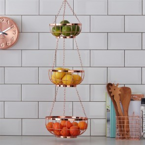 Copper Hanging Basket Set