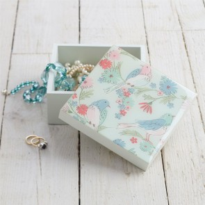 Floral Bird Keepsake Box