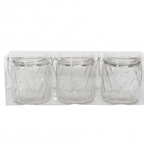 Set of Chevron Tea Light Holders