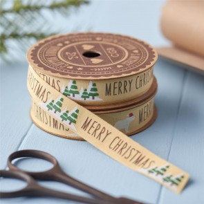 Merry Christmas Tree Ribbon