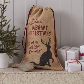 Cat Christmas Gift Sack