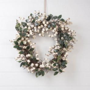 White Snowberry Christmas Wreaths
