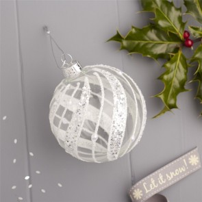 Silver Harlequin Bauble