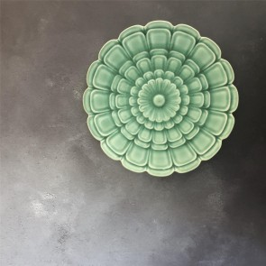 Green Flower Wall Plate