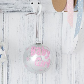 Baby Girl's First Christmas Bauble