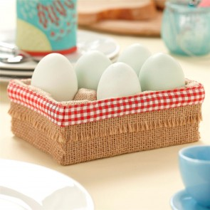 Hessian Egg Storage Box