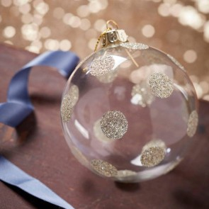 Clear Bauble With Gold Spots