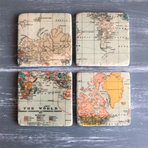 Vintage World Map Coasters