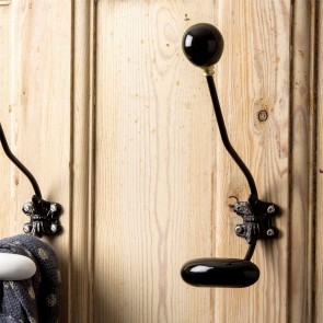 Black Ceramic Wall Hook