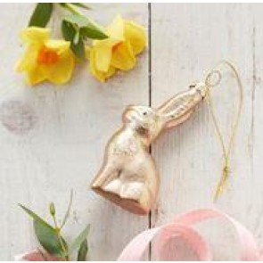 Gold Bunny Decoration