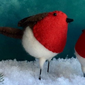 Large Wool Robin Decoration