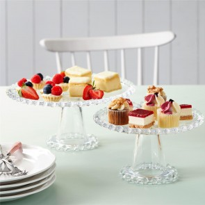 Glass Cake Stands - Set Of Two