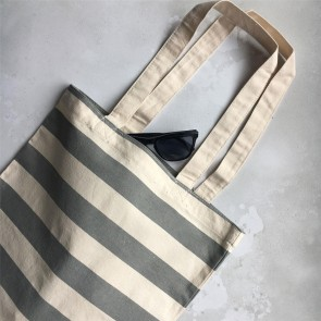 Grey Striped Bag